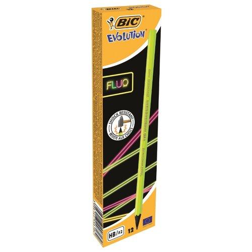Купить BIC Набор чернографитных карандашей Evolution Fluo 12 шт (940757), Карандаши