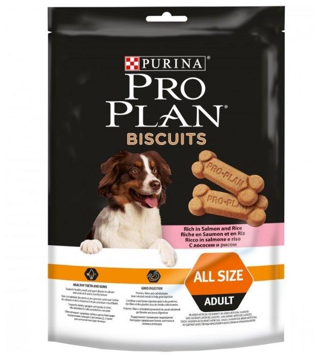 Лакомство для собак Pro Plan Biscuits с лососем и рисом