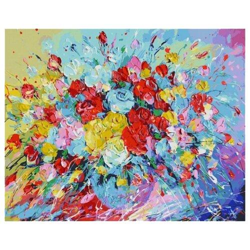 Купить Белоснежка Картина по номерам Фейерверк из роз 40х50 см (001-AB), Картины по номерам и контурам