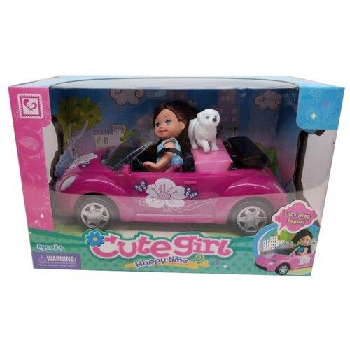 цена на Кукла Tongde в машине, собачкой, K080180