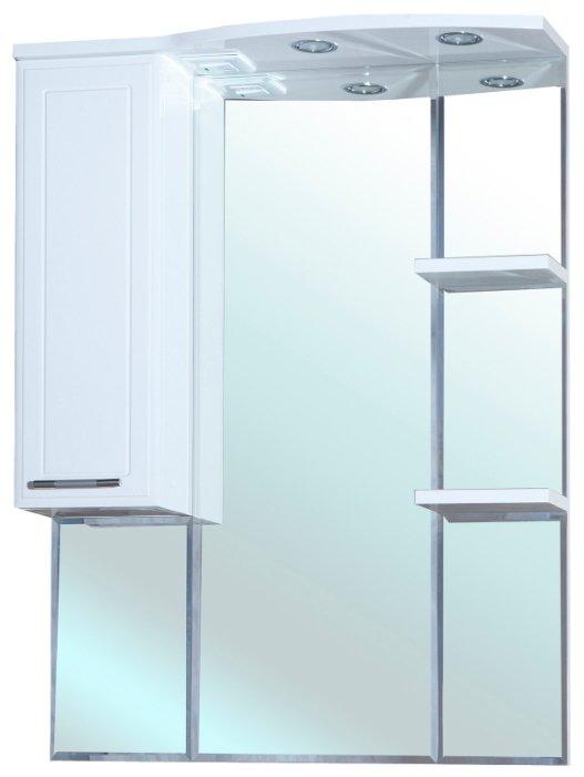 Зеркало Bellezza Коралл 85х100см белый, левый без рамы