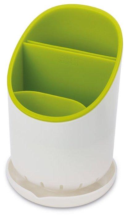 Сушилка для столовых приборов JOSEPH JOSEPH Dock со сливом, зелёная