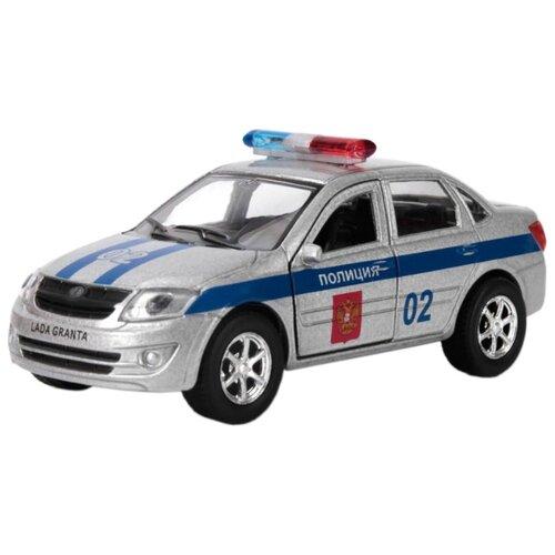 Купить Легковой автомобиль ТЕХНОПАРК Lada Granta Полиция (SB-16-41-P) 12 см серебристый, Машинки и техника