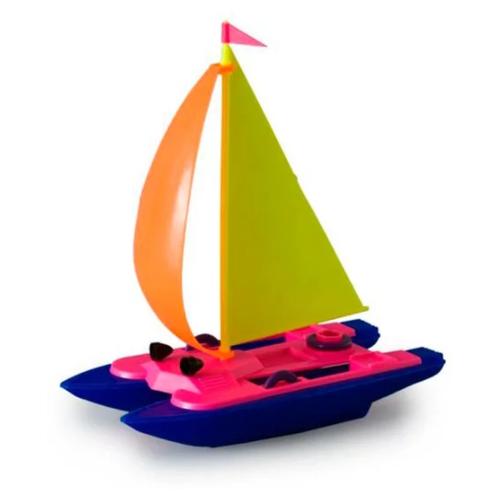 Катамаран Росигрушка (9114) 13 см синий/розовый
