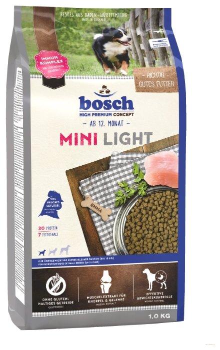 Корм для собак Bosch Light 1 кг (для мелких пород)