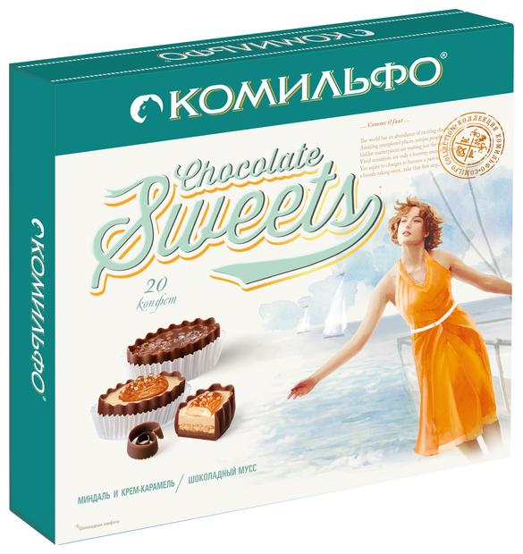 Набор конфет Комильфо Миндаль и крем-карамель / Шоколадный мусс 232 г
