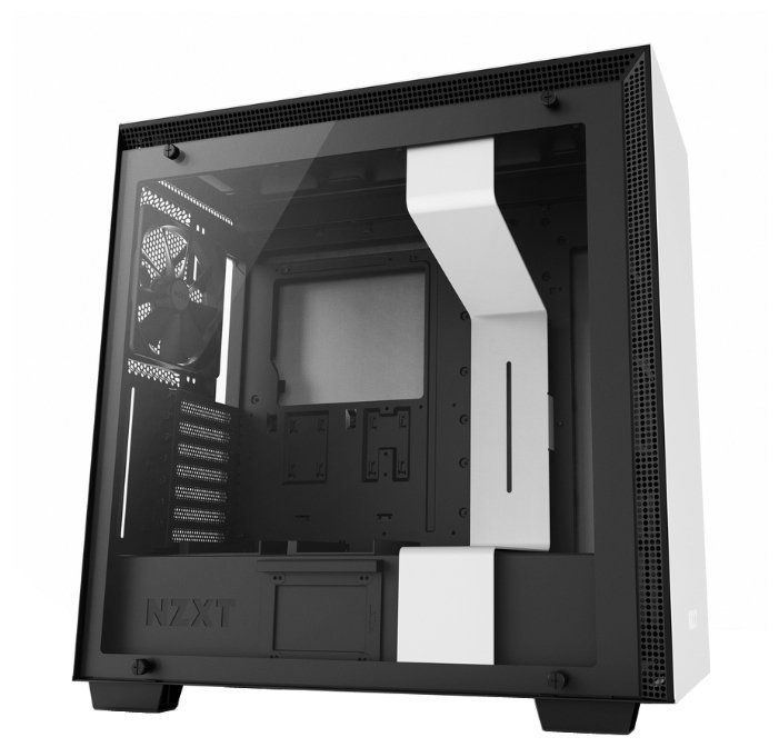 Компьютерный корпус NZXT H700 White/black