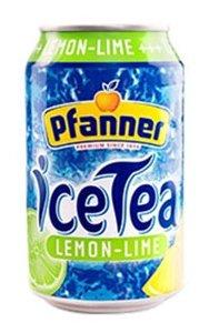 Чай Pfanner Лимон-Лайм с пониженным содержанием сахара, банка