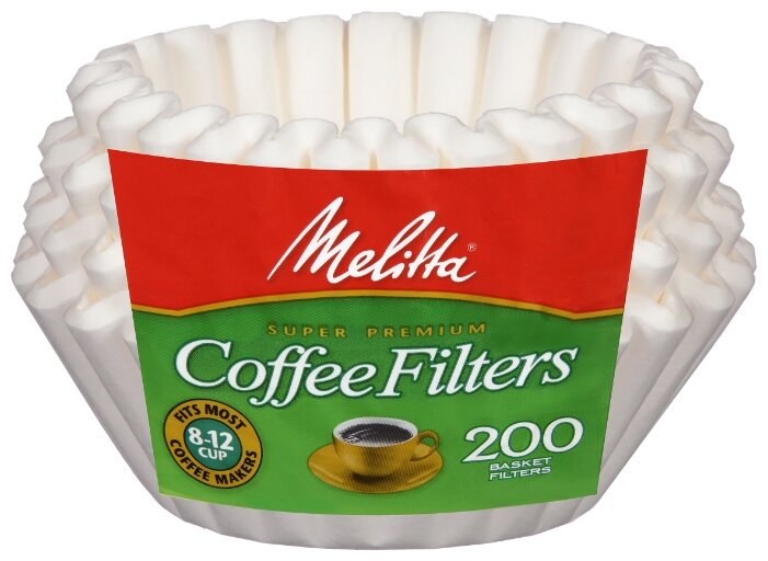 Одноразовые фильтры для капельной кофеварки Melitta Basket белые Размер 8