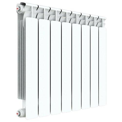 Радиатор секционный биметаллический Rifar Alp 500 x4 теплоотдача 764 Вт, подключение универсальное боковое RAL 9016