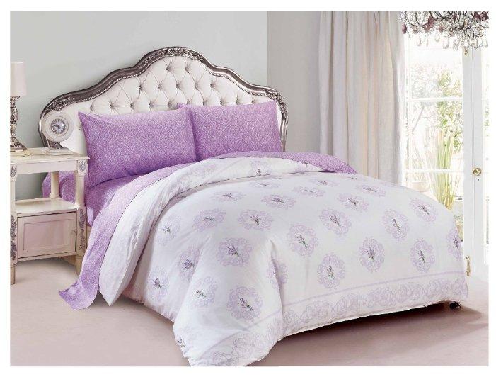 Постельное белье семейное Jardin 4Р-P-Lavender поплин