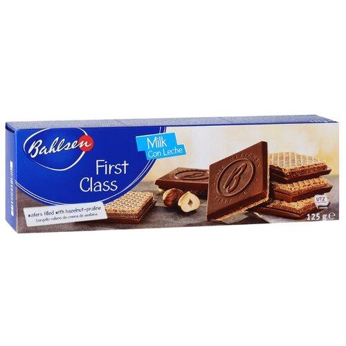 Вафли Bahlsen First Class с молочным шоколадом с начинкой из орехового крема 125 г