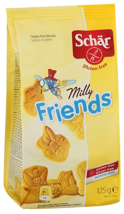Печенье Schar Milly friends, 125 г