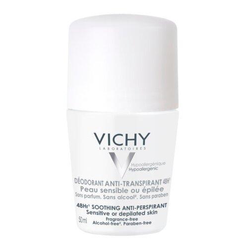 Vichy дезодорант-антиперспирант, ролик, для очень чувствительной кожи 48 ч, 50 мл
