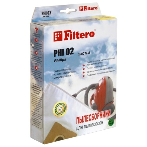 Filtero Мешки-пылесборники PHI 02 Экстра 4 шт. filtero мешки пылесборники row 07 экстра 4 шт