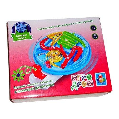 Купить Головоломка 1 TOY Игродром Лабиринт Змейка (Т10830) голубой/красный/желтый, Головоломки