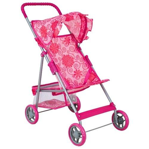 Прогулочная коляска Buggy Boom Mixy (8008) розовый/цветы, Коляски для кукол  - купить со скидкой