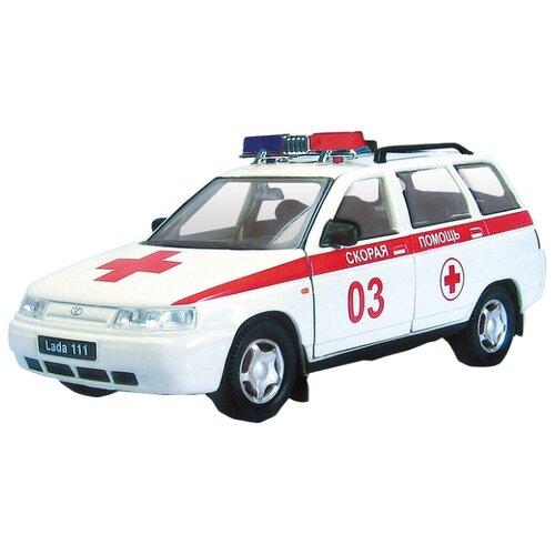 Легковой автомобиль Autogrand Lada 111 скорая помощь (2662) 1:36 11.5 см белый/красный
