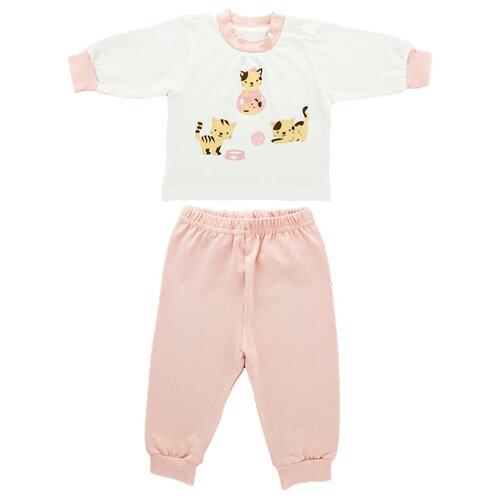 Пижама LEO размер 86, розовый/полоскаДомашняя одежда<br>