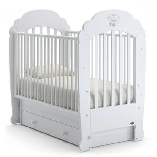 Кроватка Nuovita Parte (качалка), поперечный маятник белый кроватка гандылян дашенька колесо качалка белый