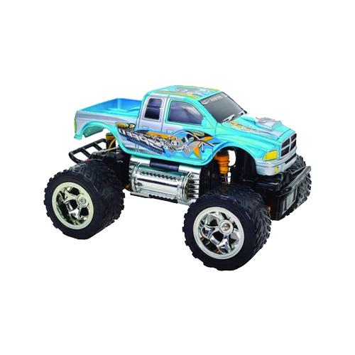 Купить Монстр-трак Пламенный мотор ПМ 030 (870260) 1:28 18 см голубой, Радиоуправляемые игрушки