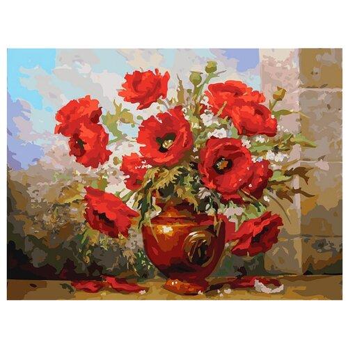 Купить Белоснежка Картина по номерам Маки 30х40 см (145-AS), Картины по номерам и контурам