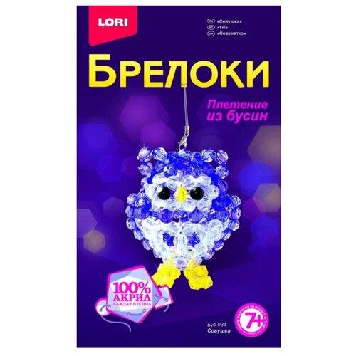 Купить LORI Набор для бисероплетения Совушка фиолетовый/белый, Бисер и бисероплетение