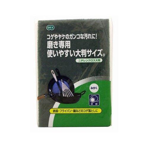 Губка OHE из синтетического материала для мытья и чистки посуды и пригоревших поверхностей, зеленый