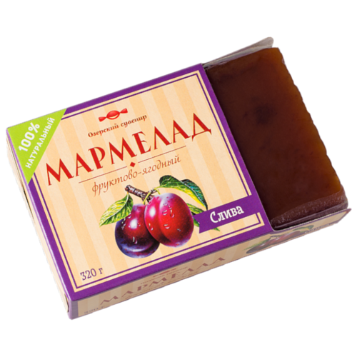Мармелад Озерский сувенир фруктово-ягодный Слива 320 г take a bitey яблоко вишня батончик фруктово ягодный 25 г