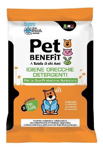 Салфетки Pet Benefit Очищающие влажные для ухода за ушками животных 30 шт/уп