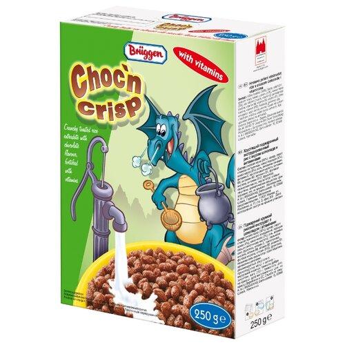 Готовый завтрак Bruggen Chocn Crisp воздушные зерна со вкусом шоколада и витаминами, коробка, 250 гГотовые завтраки, мюсли, гранола<br>