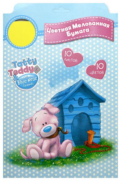 Цветная бумага Tatty Teddy Action!, A4, 10 л., 10 цв. в ассортименте