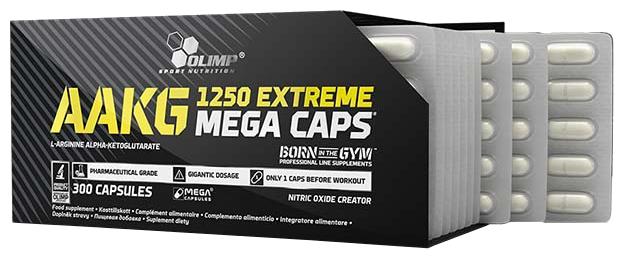Аминокислота Olimp AAKG 1250 Mega (300 капсул)