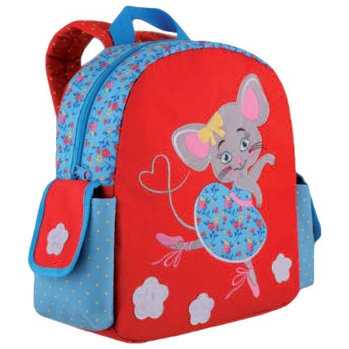 Купить Феникс+ Рюкзак детский Мышка-балерина (44305), красный/синий, Рюкзаки, ранцы
