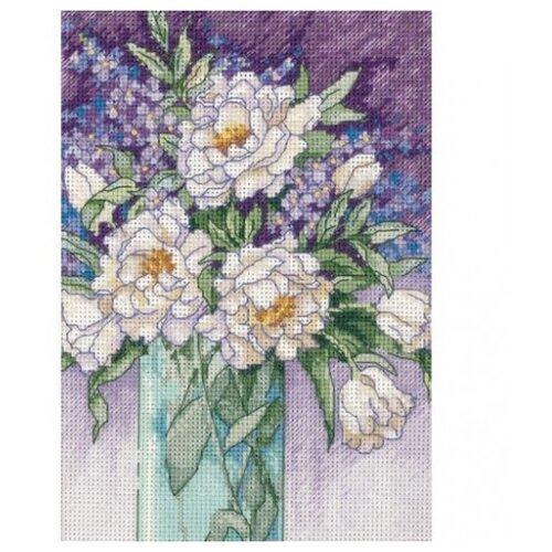 Купить Dimensions Набор для вышивания крестиком White Peonies (Белые пионы) 13 х 18 см (65074), Наборы для вышивания