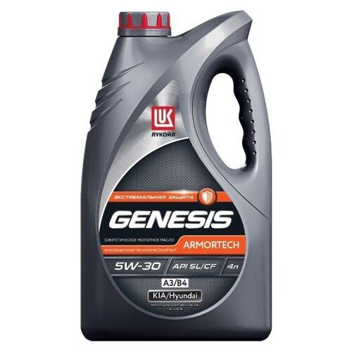 Моторное масло ЛУКОЙЛ Genesis Armortech А3/В4 5W-30 4 л моторное масло лукойл genesis armortech fd 5w 30 4 л