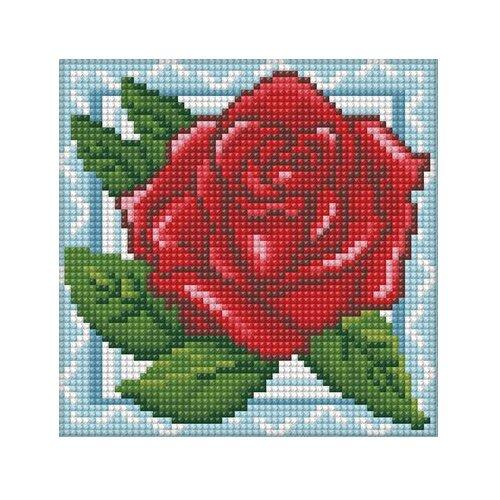 Купить Алмазная живопись Набор алмазной вышивки Роза в кружевах (АЖ-1564) 15х15 см, Алмазная вышивка