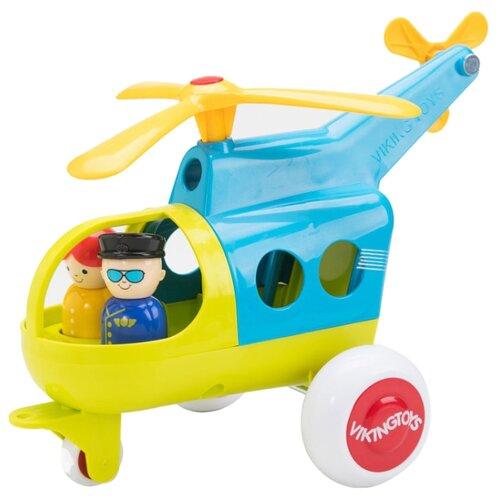 Купить Вертолет Viking Toys Jumbo (701272) 30 см голубой/желтый, Машинки и техника