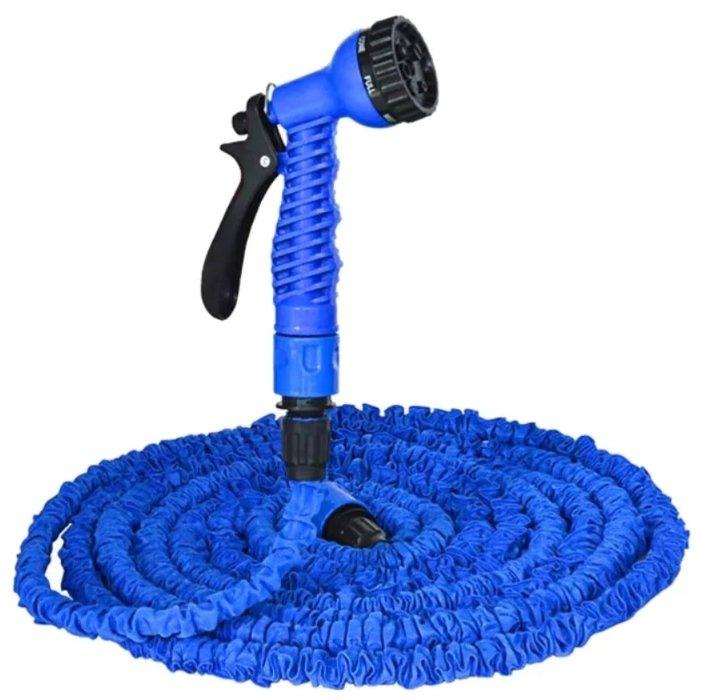 Поливочный садовый шланг с насадкой-распылителем Magic hose 75 метров (Синий)