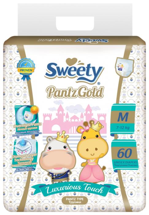 Sweety трусики Gold M (7-12 кг) 60 шт.