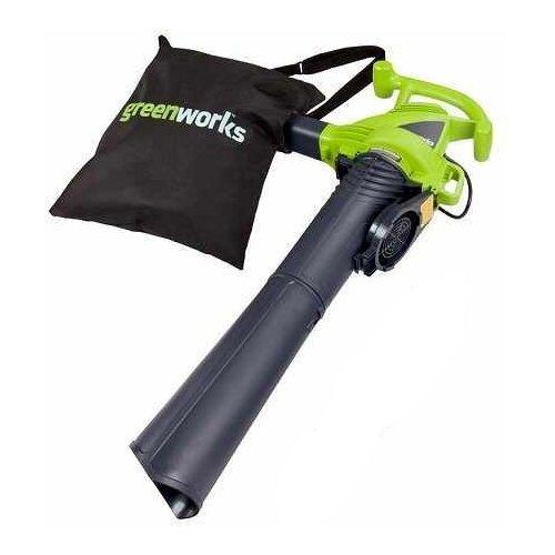 цена на Электрическая воздуходувка greenworks GBV2800 2.8 кВт