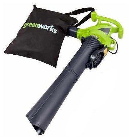 Электрическая воздуходувка greenworks GBV2800 2.8 кВт