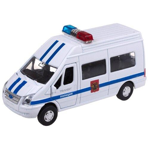 Фото - Микроавтобус ТЕХНОПАРК Ford Transit Полиция (SB-13-02-2) 1:43 белый sb 13 02 1