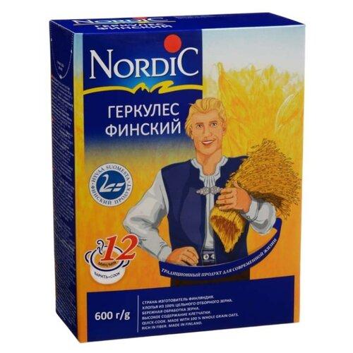 нордик каша овсяные хлопья геркулес финский nordic 600г Nordic Геркулес финский, 600 г