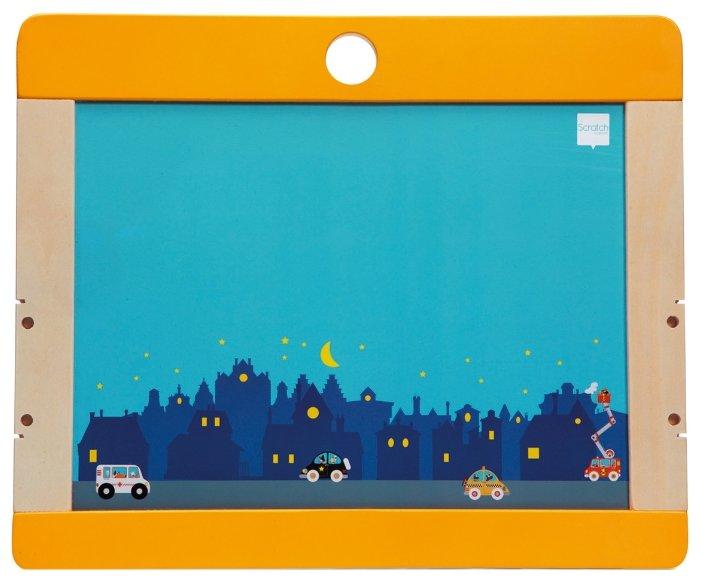 Доска для рисования детская Scratch Art Город (6181069)