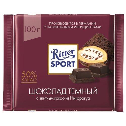 Шоколад Ritter Sport темный с какао из Никарагуа, 100 г