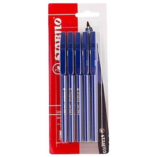 STABILO Набор шариковых ручек Liner (808/41-5В), синий цвет чернил