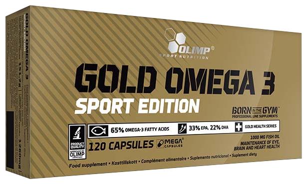 Омега жирные кислоты Olimp Gold Omega 3 Sport Edition (120 капсул)