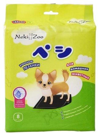 Пеленки для собак впитывающие Maneki NekiZoo Угольные