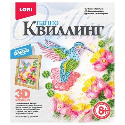 LORI Набор для квиллинга Коллибри Квл-017 розовый/желтый/голубой lori набор для квиллинга совушка квл 023 голубой розовый